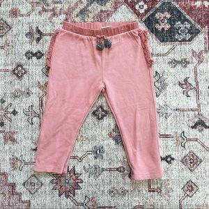Zara girls skinny pink sweatpants